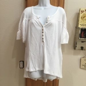 We The Free White Oversized peasant Style Top